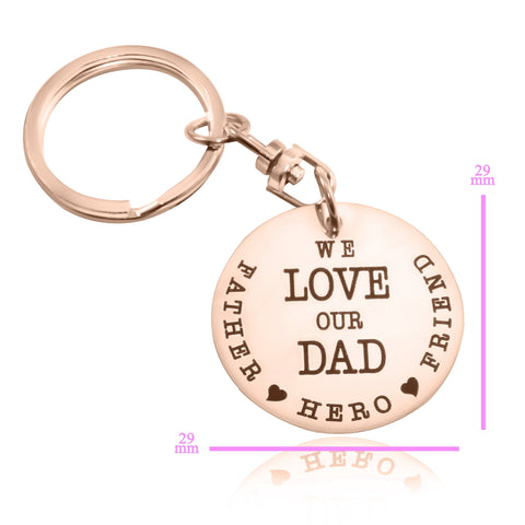 Keyring Single Disc - Rose Gold Personalized Belle Fever 5