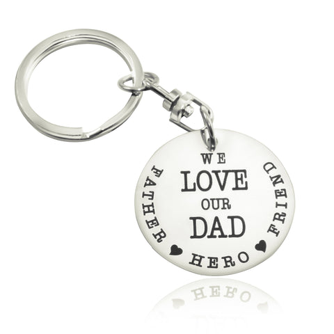 Keyring Single Disc - Silver Personalized Belle Fever 2