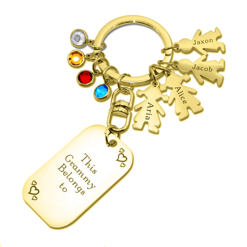 Kids Love Keyring Tag Personalised Belle Fever 3