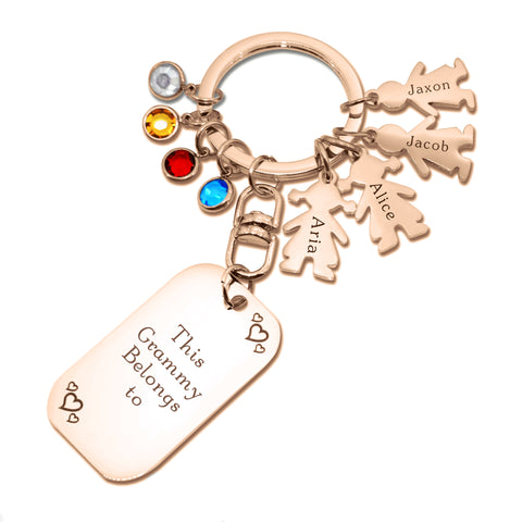 Kids Love Keyring Tag Personalised Belle Fever 4