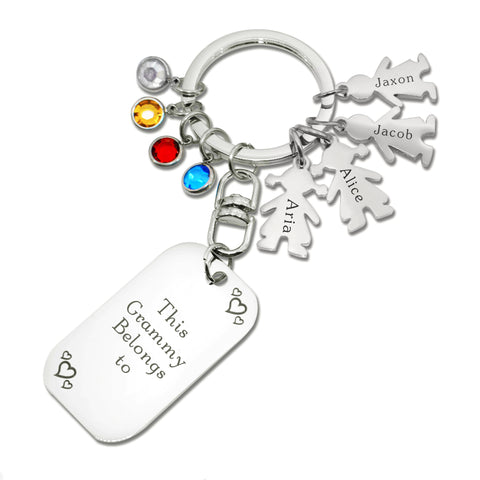 Kids Love Keyring Tag Personalised Belle Fever 2