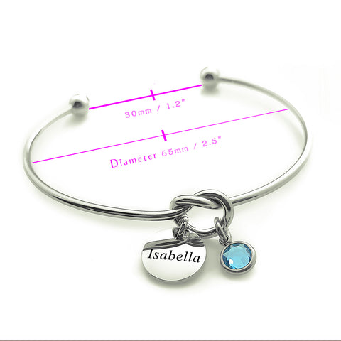 Knot Bangle (Disc Optional)