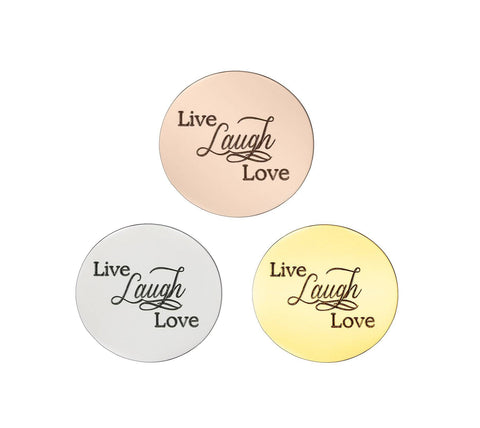 Live Laugh Love Disc Personalized for Medium Dream Locket - Collage Personalized Belle Fever 1