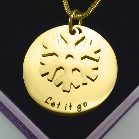 Personalized Let it Go Necklace Gold Belle Fever 1