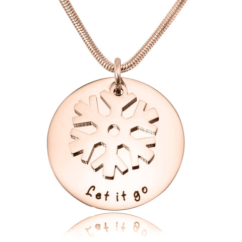 Personalized Let it Go Necklace Rose Gold Belle Fever 4