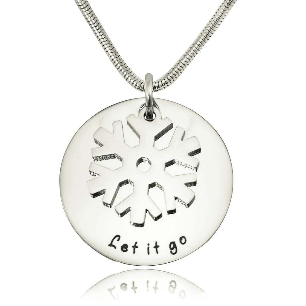 Personalized Let it Go Necklace Silver Belle Fever 2