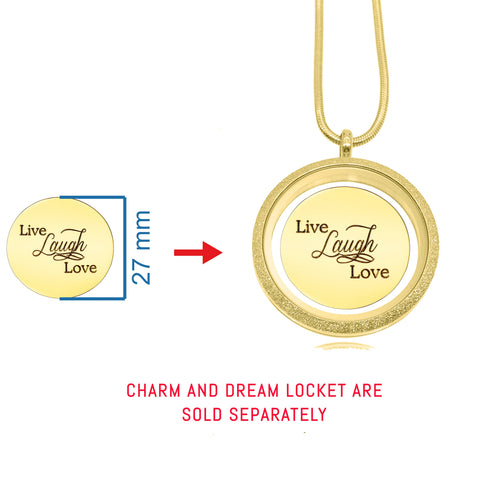 Live Laugh Love Disc Personalized for large Dream Locket - Personalized Belle Fever 2