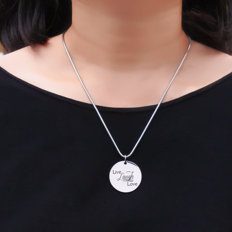 Live Laugh Love Necklace  (Not Personalized) Belle Fever 5