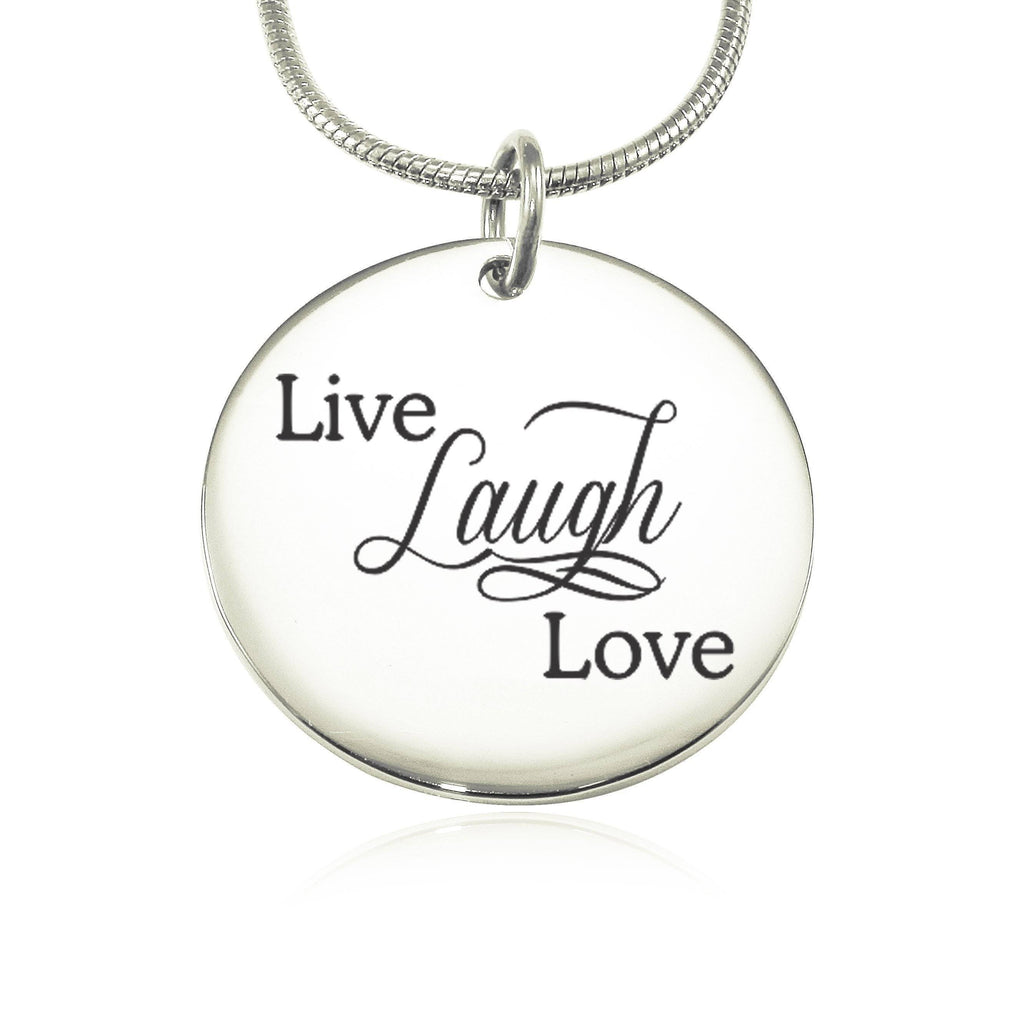 Live Laugh Love Necklace - Silver (Not Personalized) Belle Fever 2