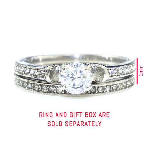 Love Crystal Ring Set