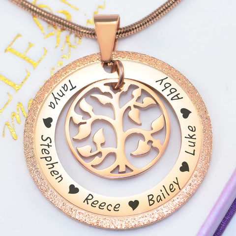 Sparkling My Family Tree Necklace Personalized Belle Fever 1