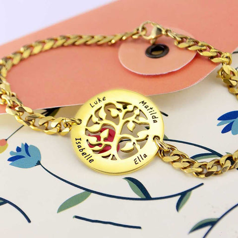 Personalized My Tree Bracelet Belle Fever 1