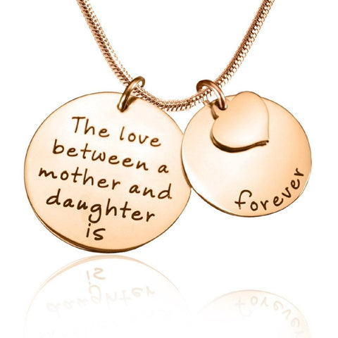 Mother Forever Necklace Rose Gold Personalized Belle Fever 4