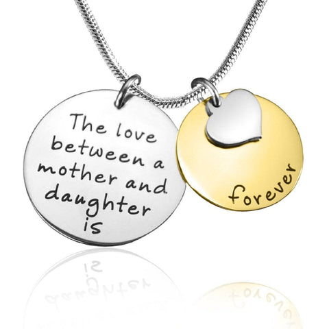 Mother Forever Necklace Two Tone Gold Personalized Belle Fever 5