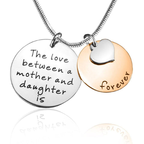 Mother Forever Necklace Two Tone Rose Gold Personalized Belle Fever 6