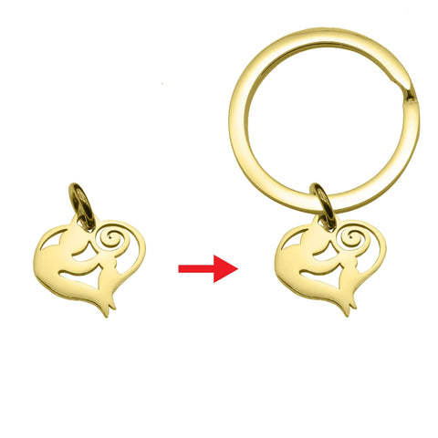Mother Love Charm for Keyring Gold Belle Fever 5