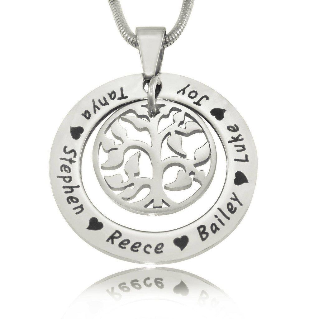 My Family Tree Necklace Silver Personalized Belle Fever 2
