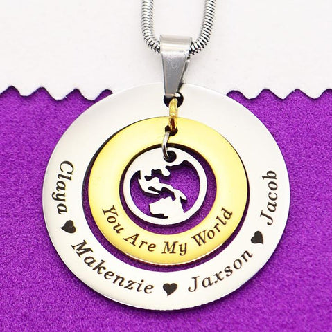 Personalized My World Necklace Belle Fever 1