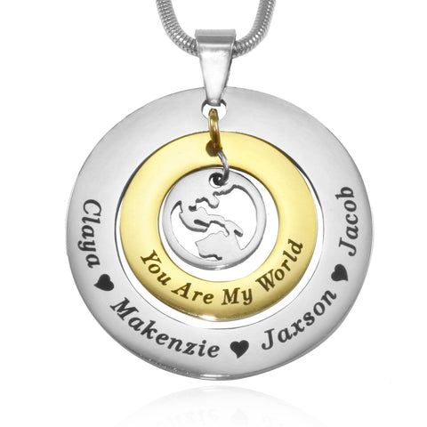 Personalized My World Necklace Twotone Gold Belle Fever 4