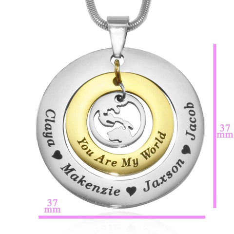 Personalized My World Necklace Belle Fever 8