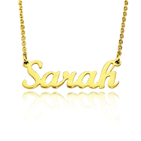 Name Necklace (Birthstones Optional) Gold Belle Fever