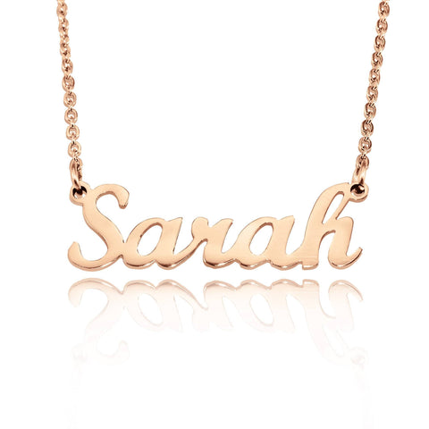 Name Necklace (Birthstones Optional) Rose Gold Belle Fever
