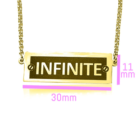 Number Plate Name Bar Necklace