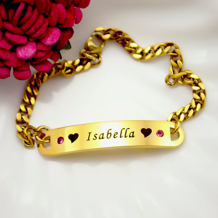 Personalized Birthstone Bracelet Belle Fever