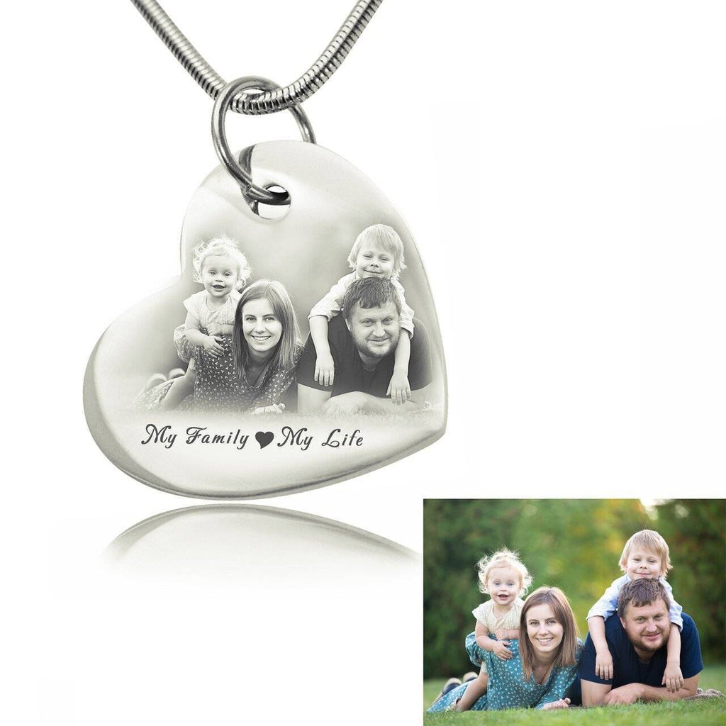 Bottom of My Heart Photo Necklace Silver Personalized Belle Fever 2