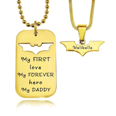 Dog Tag Batman Two Necklaces Personalized Belle Fever 3