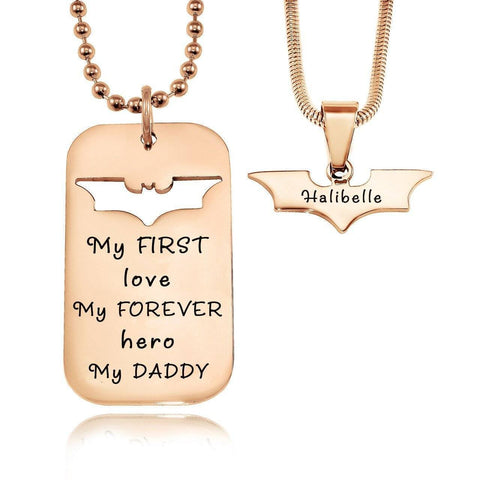 Dog Tag Batman Two Necklaces Personalized Belle Fever 4