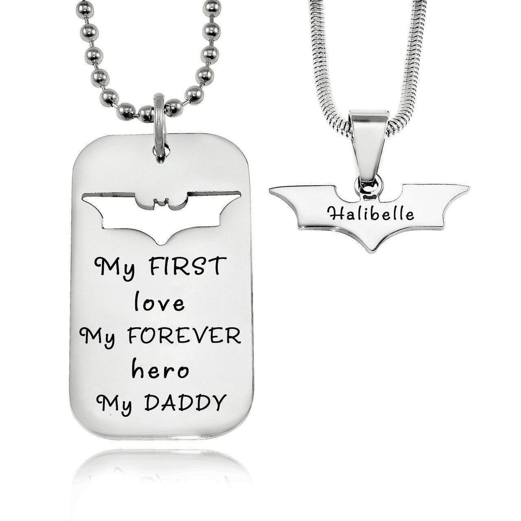 Dog Tag Batman Two Necklaces Personalized Belle Fever 2