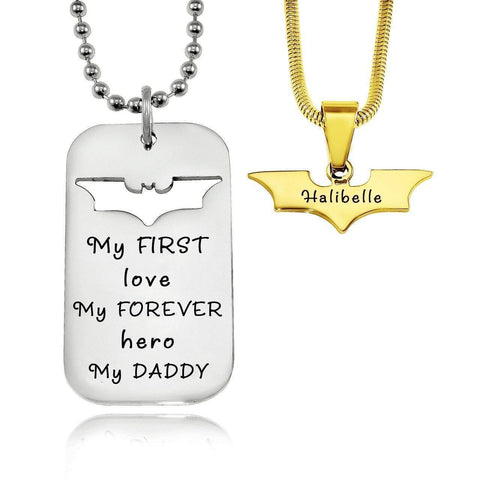 Dog Tag Batman Two Necklaces Personalized Belle Fever 5