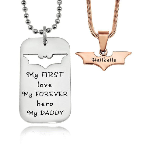 Dog Tag Batman Two Necklaces Personalized Belle Fever 6