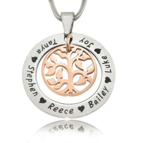 My Family Tree Necklace Twotone Rose Gold Personalized Belle Fever 6
