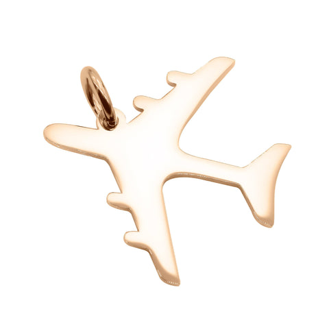 Plane Charm For Keyring Rose Gold Belle Fever 4