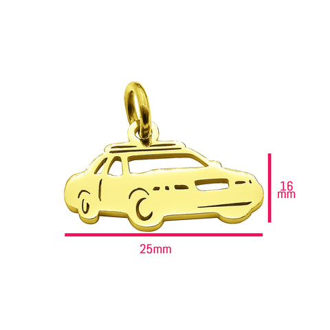 Police Car Charm for Keyring Gold Belle Fever 6