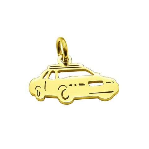 Police Car Charm for Keyring Gold Belle Fever