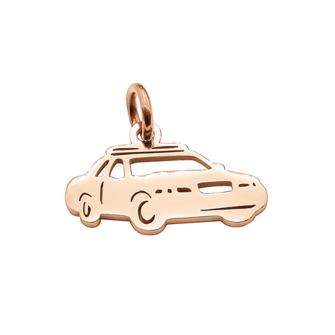 Police Car Charm for Keyring Rose Gold Belle Fever