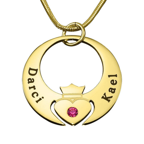 Queen of My Heart Necklace Gold Personalized Belle Fever 3