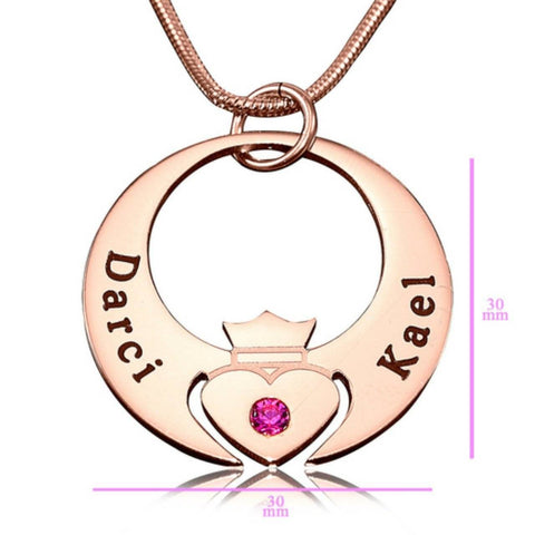 Queen of My Heart Necklace Rose Gold Personalized Belle Fever 6