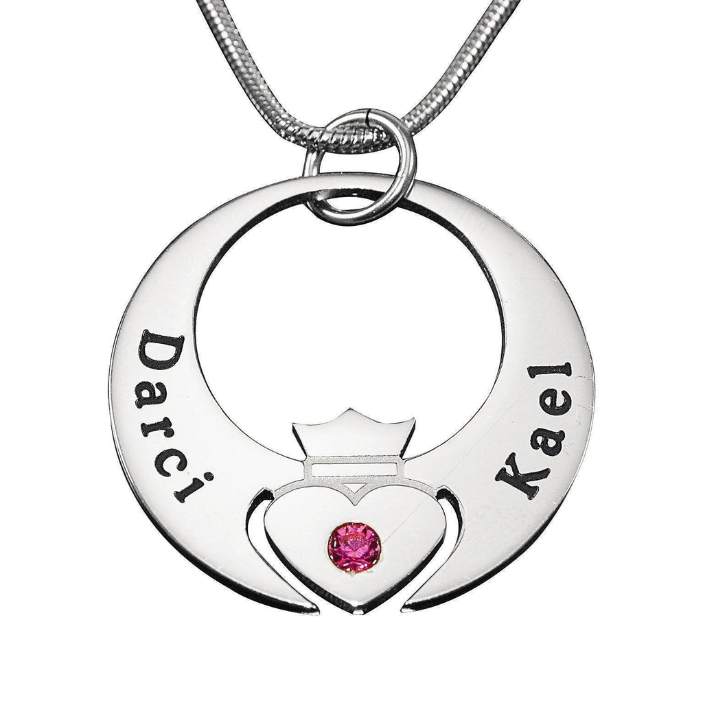 Queen of My Heart Necklace Silver Personalized Belle Fever 2