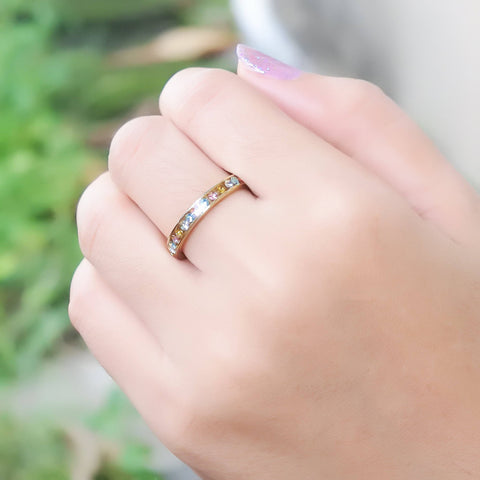 Rainbow Crystal Ring Gold Belle Fever 3