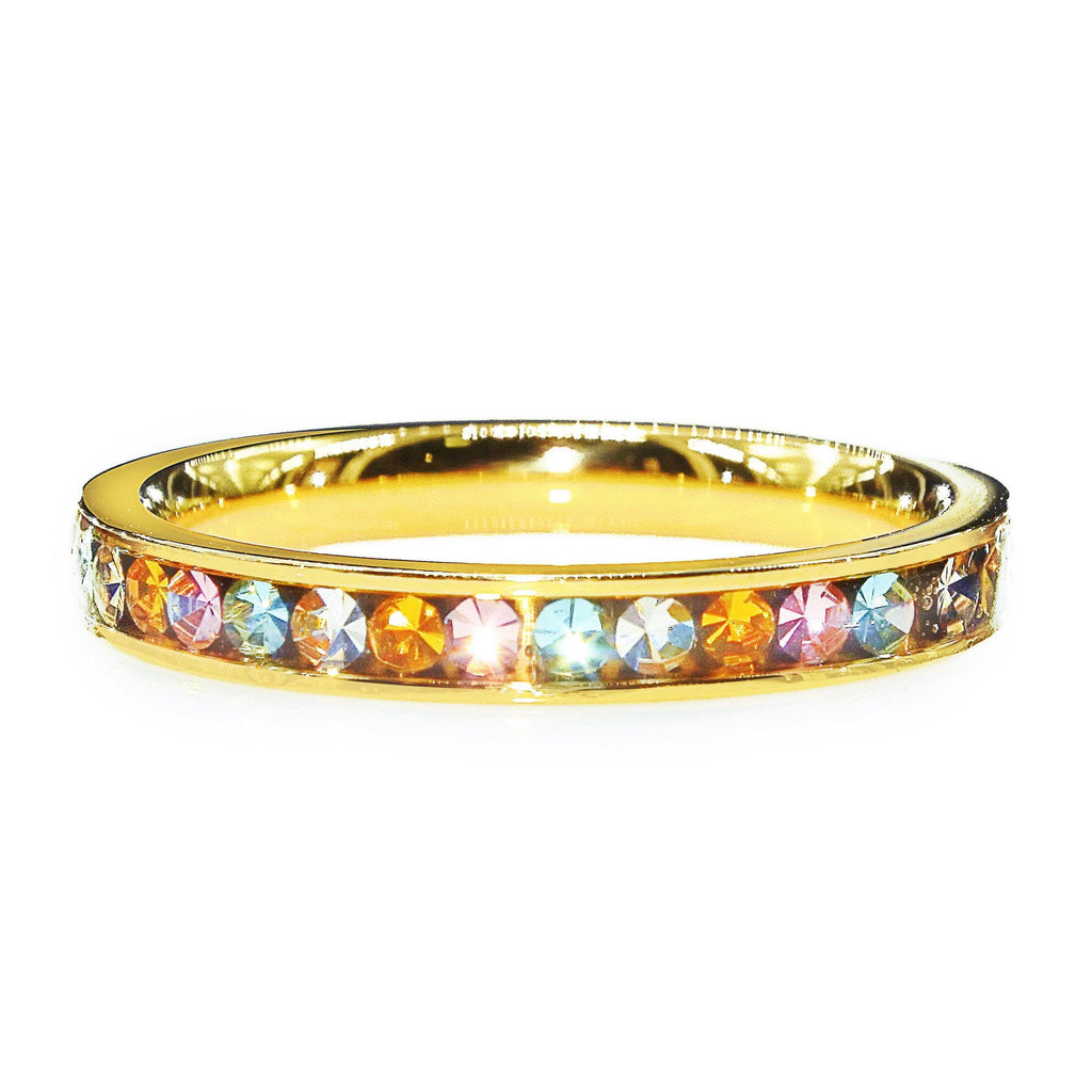 Rainbow Crystal Ring Gold Belle Fever 2