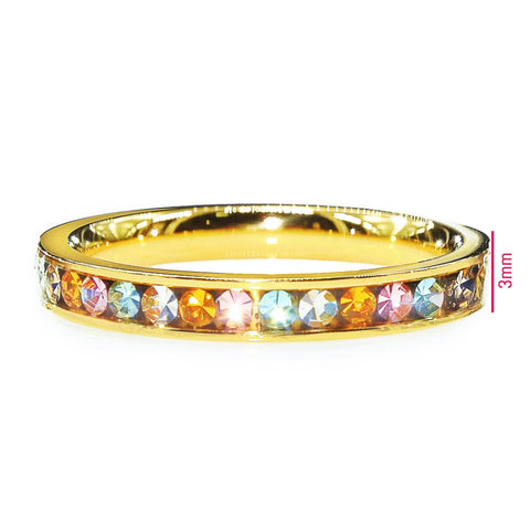 Rainbow Crystal Ring Gold Belle Fever 4