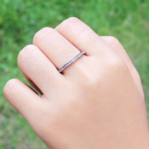 Shimmering Love Ring Silver Belle Fever 3