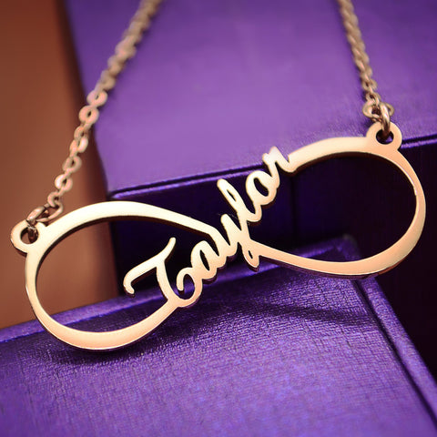 Single infinity Name Necklace Personalized Belle Fever 1