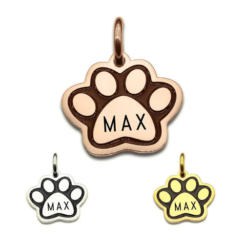 Single Paw Print Charm for Keyrings Collage Personalized Belle fever 1