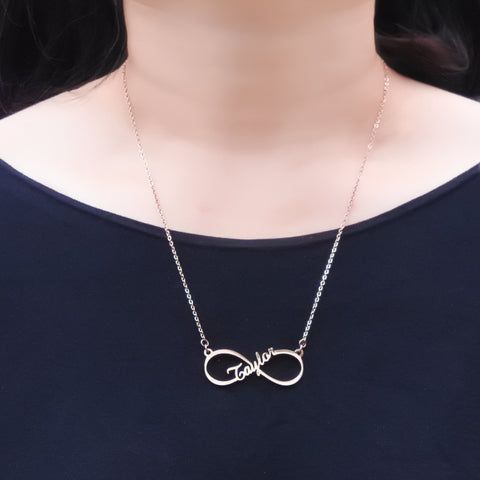 Single infinity Name Necklace Personalized Belle Fever 5