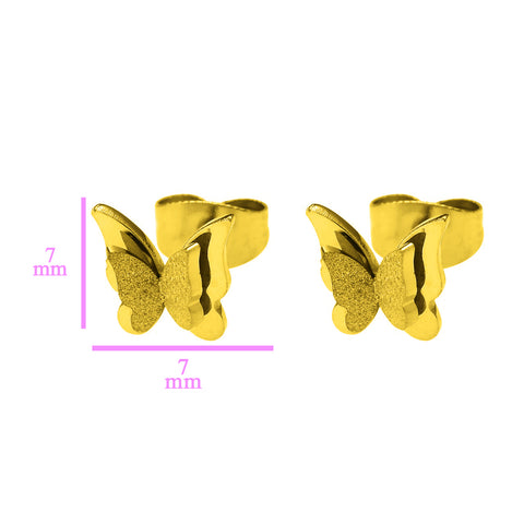 Sparkling Butterfly Stud Earrings